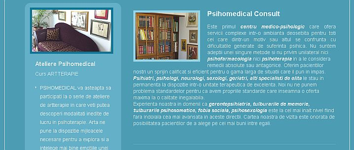 Psihomedical.ro - portofoliu Sector Web