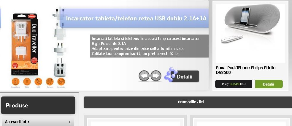 Dezvoltare site web accesoriifotovideo.ro - Sector web