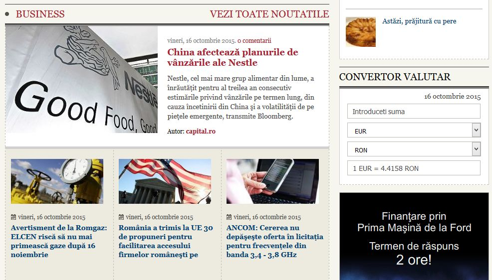 Extindere platforma CMS existenta custom CAPITAL.ro - Sector Web