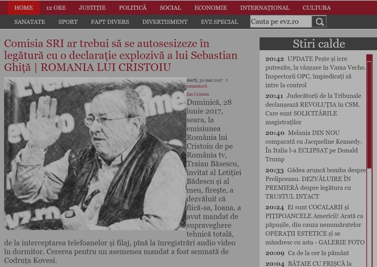 Facebook Instant Articles Evz.ro - Sectorweb.ro