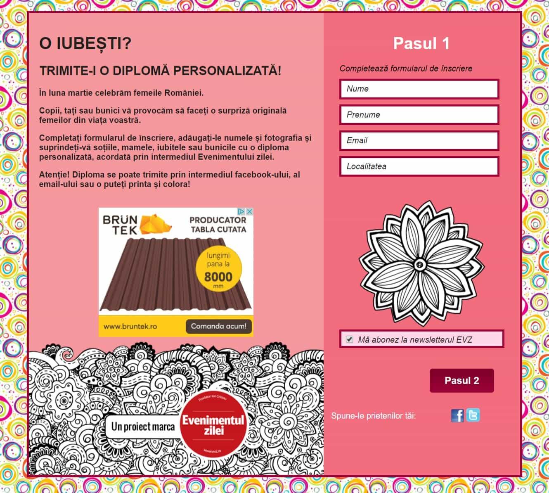 Creare site web custom