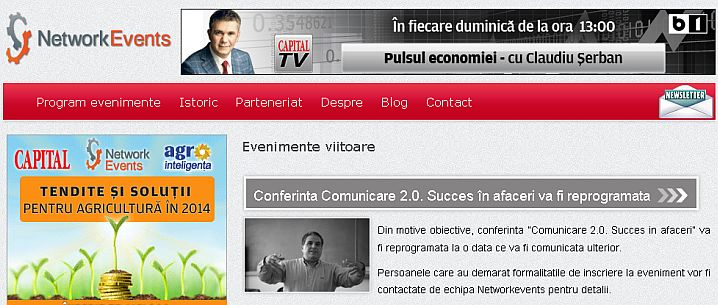 Realizare website prezentare Networkevents.ro