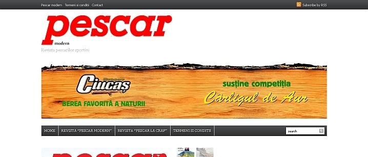 Realizare site prezentare Revista Pescar modern