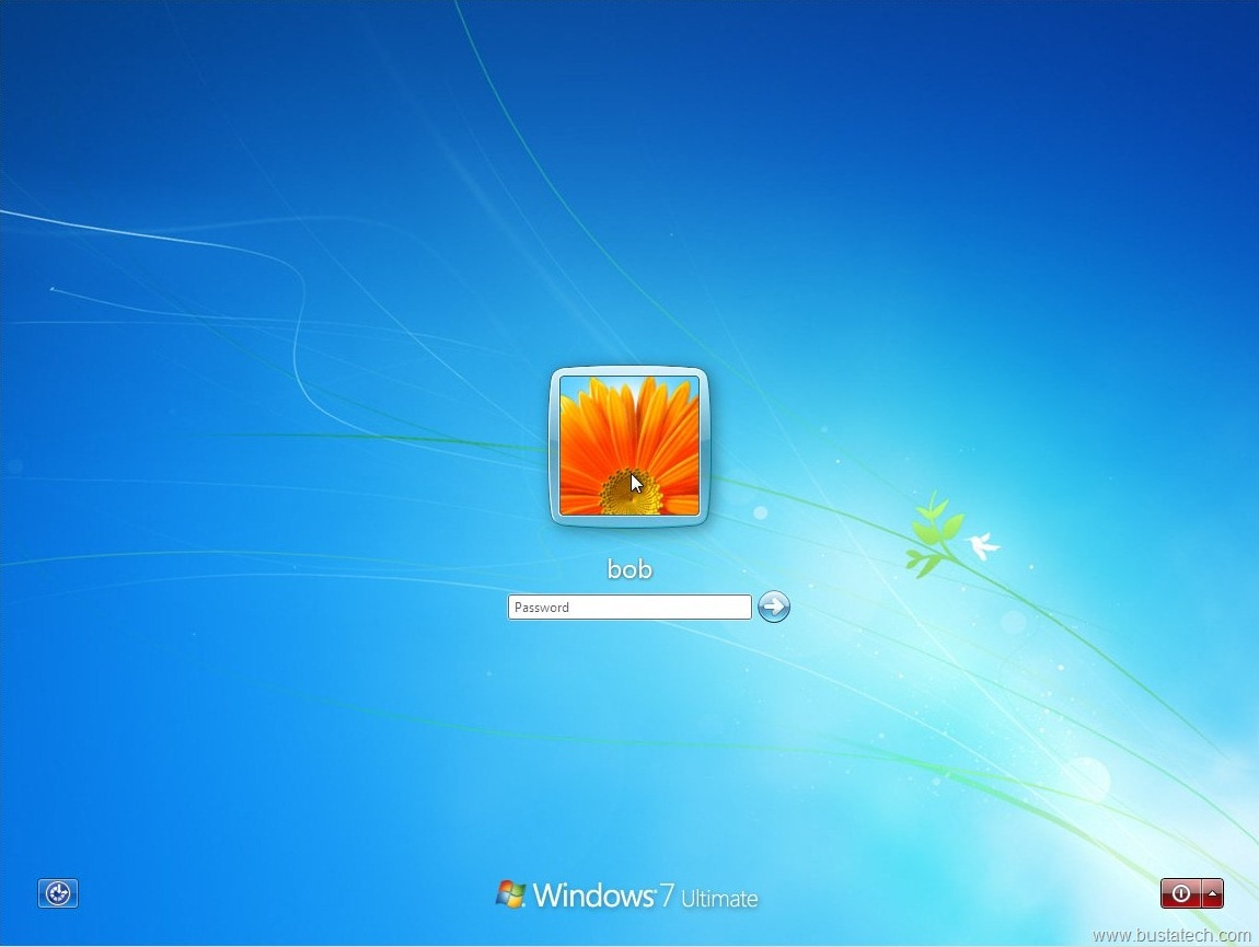 Ecranul de login  Windows 7