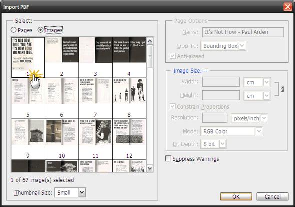 Extragere imagini dintr-un fisier PDF - Sector web