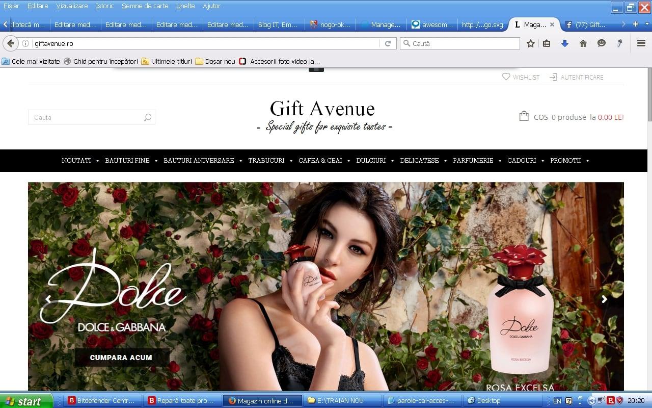 Gift Avenue, magazin online cu produse de lux pentru cunoscatori! - Sector web