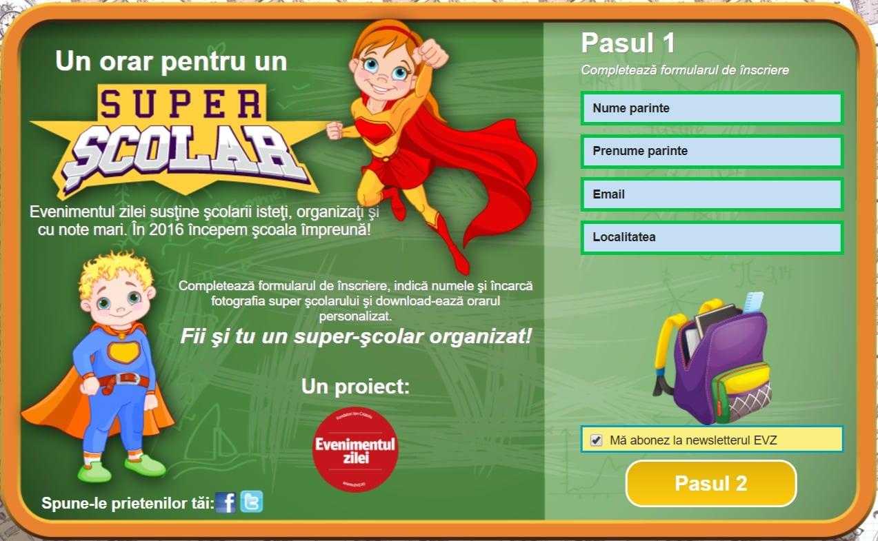 Creare site web personalizat