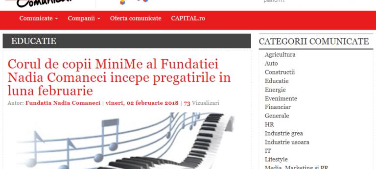 Creare platforma custom Capital Comunicate online - Sector web