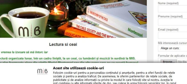 DGPR - evz.ro. Implementare solutie DGPR pe site-ul web institutulmontessori.ro. Sectorweb.ro