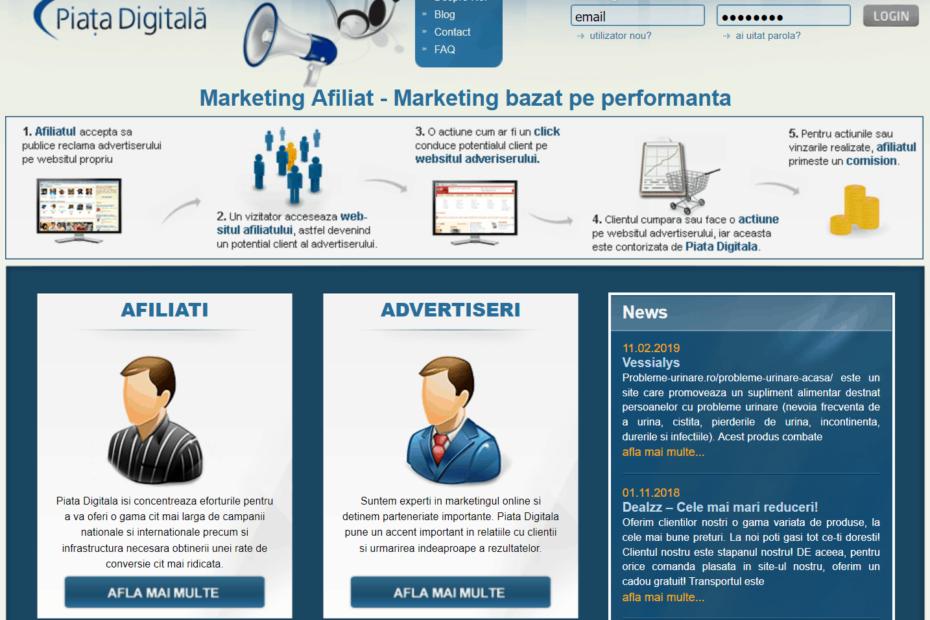 Implementare cod afiliere piatadigitala.ro - Marketing online