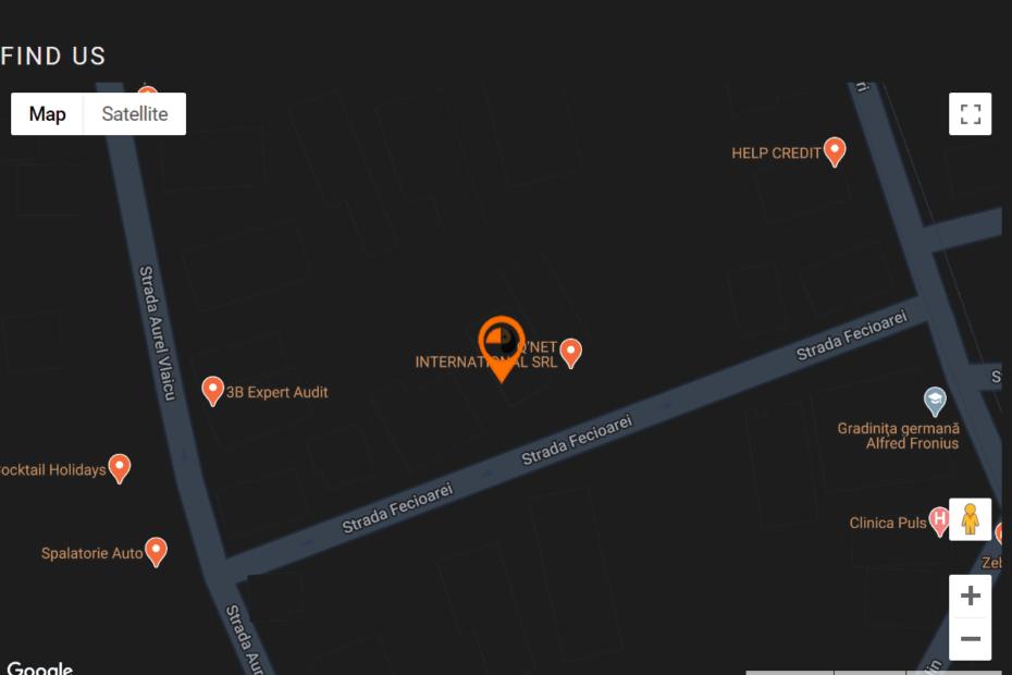 Harta Google custom - Google maps platform API